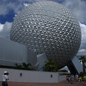2 of 16: Spaceship Earth - Walkway reopens