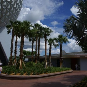 7 of 16: Spaceship Earth - Walkway reopens