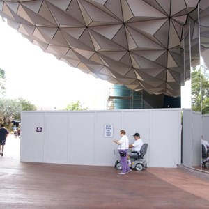 15 of 16: Spaceship Earth - Walkway reopens
