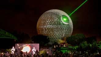 VIDEO - Spaceship Earth transforms into the Death Star to celebrate 'Rogue One - A Star Wars Story'