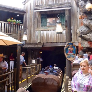 5 of 5: Splash Mountain - Splash Mountain load area after refurbishment