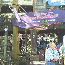 New signs around Splash Mountain