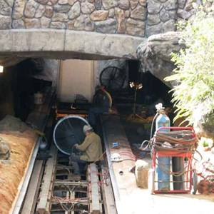 3 of 16: Splash Mountain - Splash Mountain drained for refurbishment