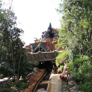 5 of 16: Splash Mountain - Splash Mountain drained for refurbishment