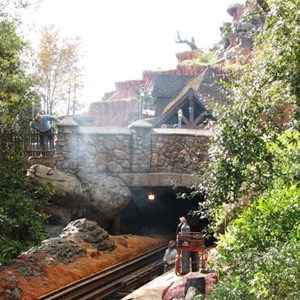 7 of 16: Splash Mountain - Splash Mountain drained for refurbishment