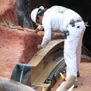 12 of 16: Splash Mountain - Splash Mountain drained for refurbishment