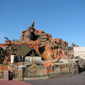 1 of 3: Splash Mountain - Splash Mountain drained for refurbishment