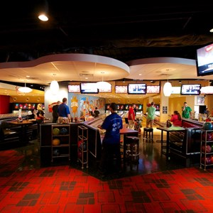 34 of 48: Splitsville - Splitsville upper level bowling lanes