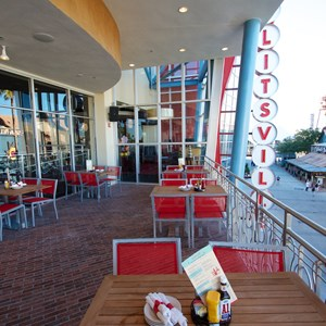 39 of 48: Splitsville - Splitsville upper level dining patio