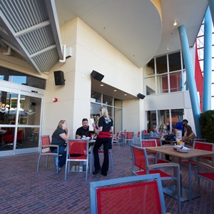 44 of 48: Splitsville - Splitsville lower level dining patio