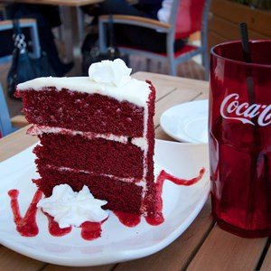 48 of 48: Splitsville - Splitsville giant red velvet cake