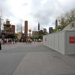 Star Tours speeder-bike area walls