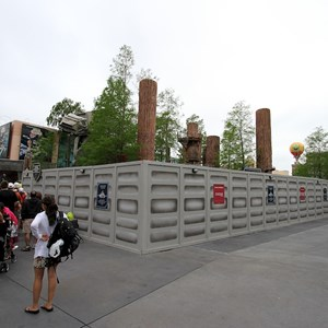 1 of 5: Star Tours - The Adventures Continue - Construction walls