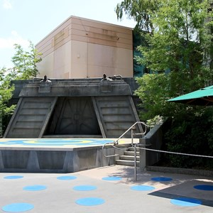 1 of 2: Star Tours - The Adventures Continue - Original Star Tours signage removed