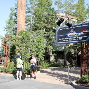 2 of 6: Star Tours - The Adventures Continue - Walls down at Star Tours