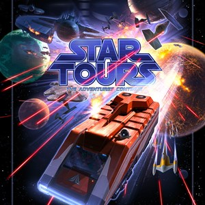 1 of 2: Star Tours - The Adventures Continue - Star Tours II attraction poster