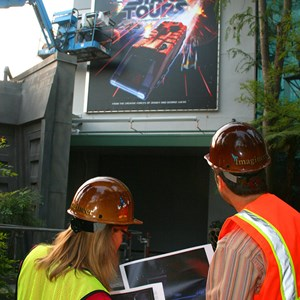 2 of 2: Star Tours - The Adventures Continue - Star Tours II attraction poster