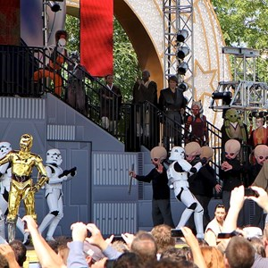 3 of 15: Star Tours - The Adventures Continue - Storm Troopers announce the arrival of Darth Vadar