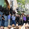 Star Tours - The Adventures Continue - Bog Iger and George Lucas address the crowd