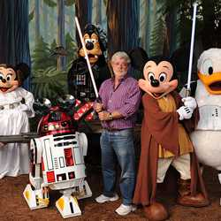 George Lucas visits the Studios as part of Last Tour to Endor event