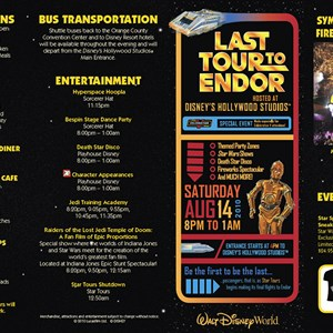 1 of 2: Star Tours - Last Tour to Endor event guide map