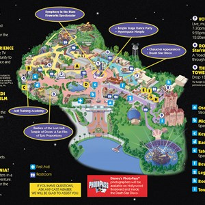 2 of 2: Star Tours - Last Tour to Endor event guide map