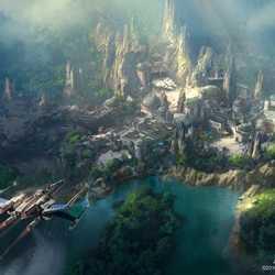 Star Wars Land at Disneyland concept art
