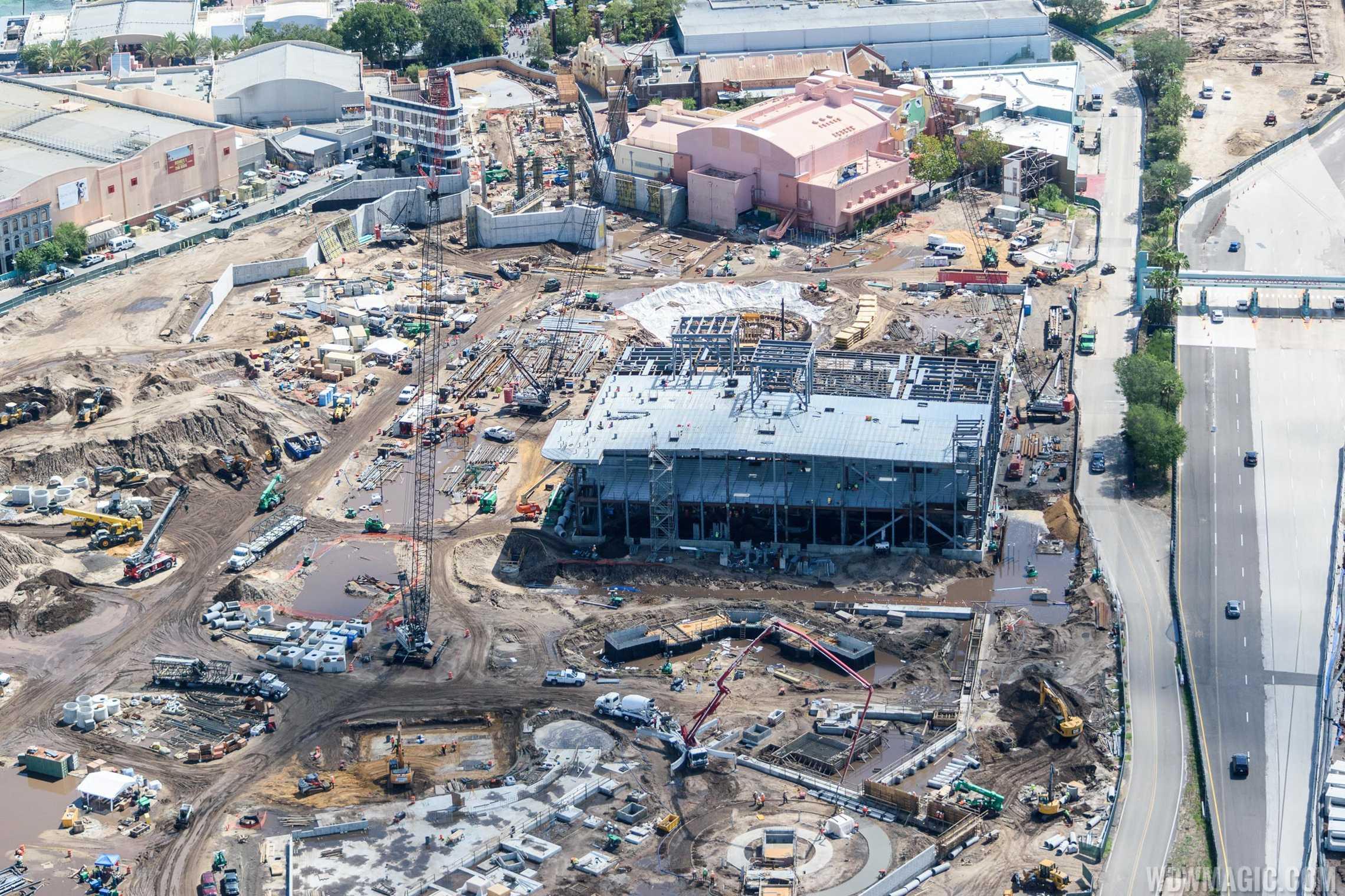 Star Wars Galaxy's Edge construction aerial view