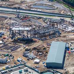 Star Wars Galaxy's Edge construction aerial views