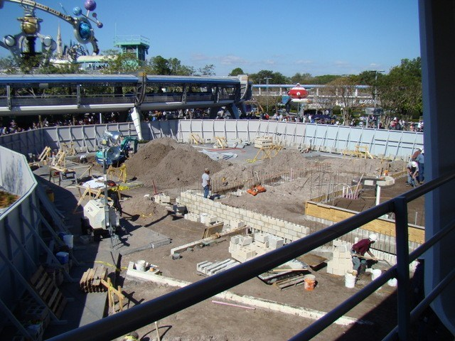 Stitch's SuperSonic Celebration construction photos