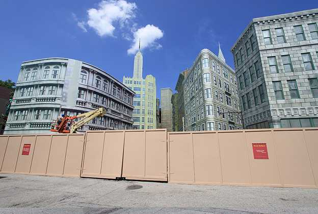 New York Street facade refurbishment
