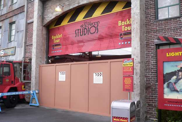 Backlot Tour closed for refurbishment