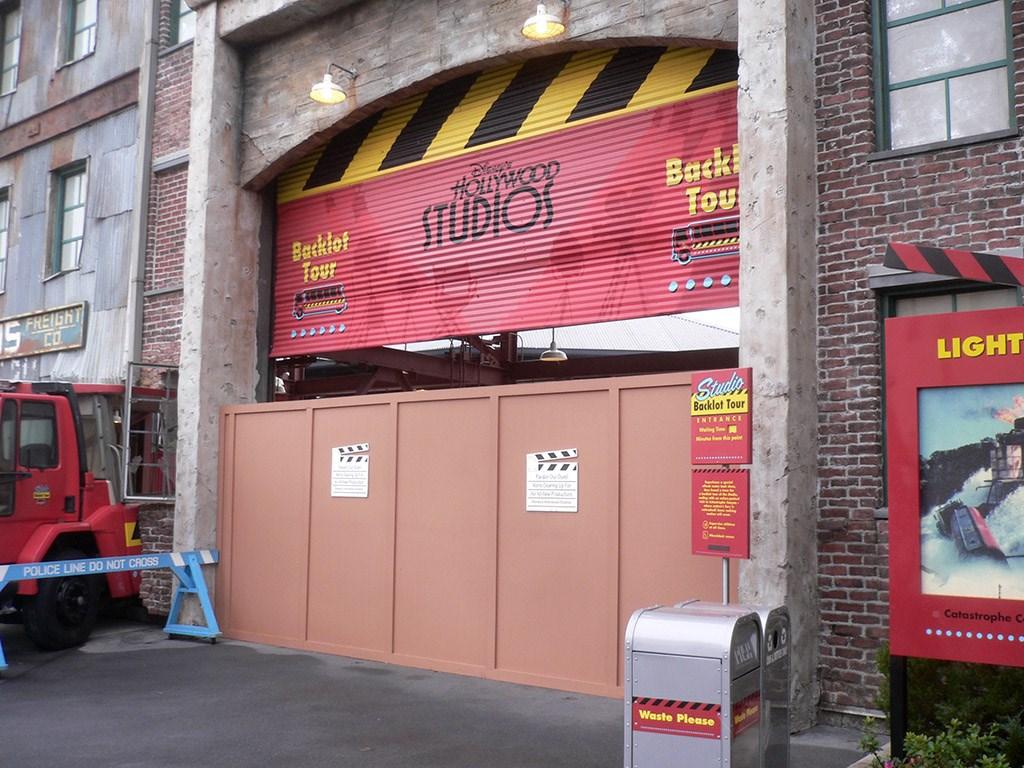 Backlot Tour closed for refurbishment