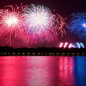 1 of 6: Summer Nightastic! Fireworks Spectacular - Show viewed from Disney's Grand Floridian Resort