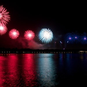 2 of 6: Summer Nightastic! Fireworks Spectacular - Show viewed from Disney's Grand Floridian Resort