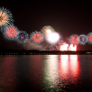 4 of 6: Summer Nightastic! Fireworks Spectacular - Show viewed from Disney's Grand Floridian Resort