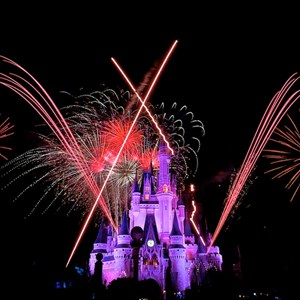 1 of 9: Summer Nightastic! Fireworks Spectacular - Show viewed from the hub on Main Street USA