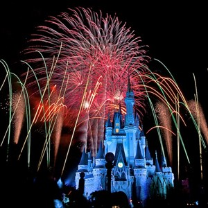 2 of 9: Summer Nightastic! Fireworks Spectacular - Show viewed from the hub on Main Street USA