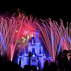 3 of 9: Summer Nightastic! Fireworks Spectacular - Show viewed from the hub on Main Street USA