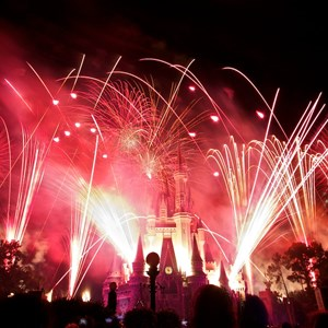 7 of 9: Summer Nightastic! Fireworks Spectacular - Show viewed from the hub on Main Street USA
