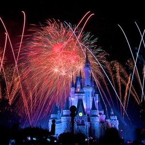8 of 9: Summer Nightastic! Fireworks Spectacular - Show viewed from the hub on Main Street USA