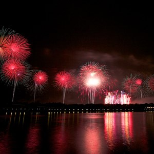 6 of 6: Summer Nightastic! Fireworks Spectacular - Show viewed from Disney's Grand Floridian Resort