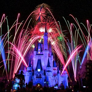 2 of 10: Summer Nightastic! Fireworks Spectacular - Show viewed from the end of Main Street USA