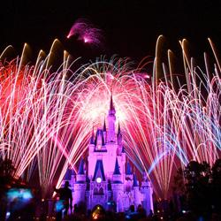 Show viewed from the end of Main Street USA