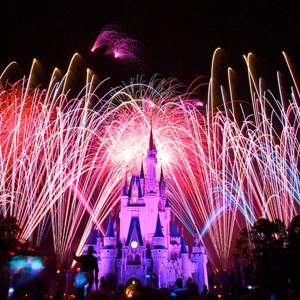 3 of 10: Summer Nightastic! Fireworks Spectacular - Show viewed from the end of Main Street USA