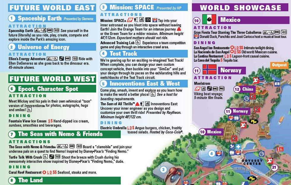 Refurbishment guide map and times guide