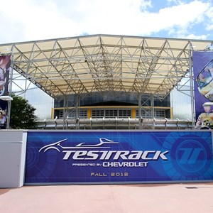 1 of 5: Test Track - Test Track walled off for refurbishment