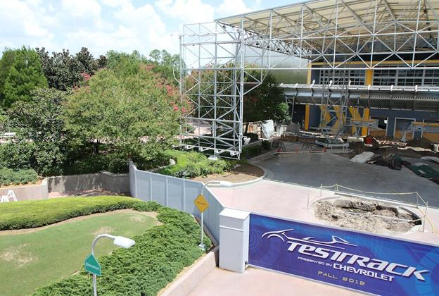 Test Track refurbishment - entrance area