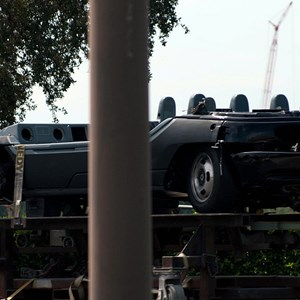 3 of 3: Test Track - Test Track ride vehicles in transit