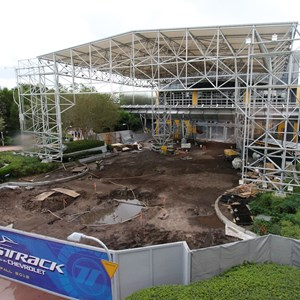 2 of 5: Test Track - New Test Track construction - entrance area